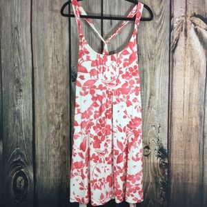 American Eagle Pink and White Floral Summer Dress